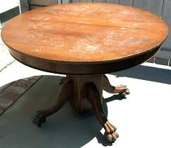 oak clawfoot table for antique round dining table for claw foot pedestal dining table