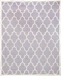 moroccan trellis handmade wool gray rug 10584