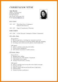 4 Standard Format Of Curriculum Vitae Cv For Teaching