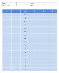 School Bus Seating Chart Template Ms Word Templates Ms