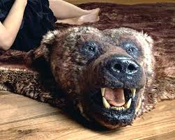 faux bear skin rug with head black bear skin rug with head large size of grizzly faux bear skin rug with head