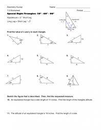 Special triangles worksheet impression photo identify triangle ...