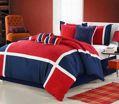 us impression red duvet cover set luxury bedding