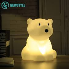 Polar Bear Night Light Us 43 39 35 Off Polar Bear Led Night Light 30cm Swivel Dimmable Warm White Led Desk Lamp Eu Us Plug Led Night Light For Baby Living Room In Led