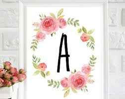 floral wall art nursery