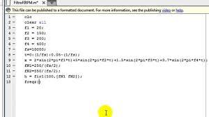 Matlab Code For Fir Filter Design Using Rectangular Window Matlab Examples Fir Filter