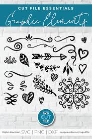 The great thing about flourishes and shapes is that they're so simple yet versatile, you can usually find good reason to use one in most any design. Pin By Katrina Laws On Mug Designs In 2020 Squiggles Svg Swirl