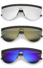 colored mirror mono lens shield sunglasses 65mm zoom