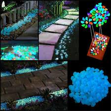 100x glow in the dark pebbles stones garden vase luminous rocks light home decoration wedding decorations