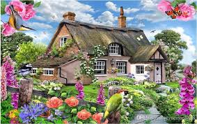 custom modern wooden english country house with colorful garden tv wall 3d wallpapers for wall background images wallpaper free background wallpaper from