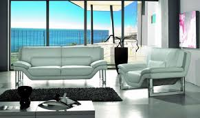 divani casa new york modern white leather sofa set