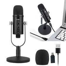 Nghề Nghiệp Phòng Thu USB Micro Cho Ghi Âm Điện Thoại Hát Karaoke Chơi Game  Micro Điện Dung Cho Máy Tính PC Chân Đế Mic Lọc Âm Thanh|Míc