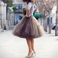 Petticoat <b>5 Layers 60cm Tutu</b> Tulle Skirt Vintage Midi Pleated Skirts ...