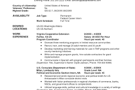Usa Jobs Ses Resume Template Microsoft Word Fill Fill In Resume
