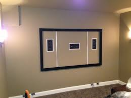 tv wall mount framing with speakers
