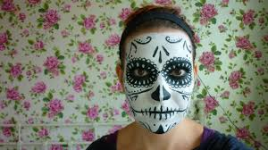 black and white sugar skull face paint