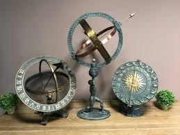 armillary sphere sundial atlas bronze