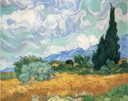arts everyday living van gogh the cypresses of saint remy the van gogh vincent
