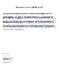 This brand ambassador contract pdf template contains the basic and essential elements in a brand ambassador contract between the company and the brand ambassador. Fillable Online Loan Agreement Assignment Debt Assignment Sample Contract Template Form Of Loan Claims Assignment Agreement1 Name Of Fax Email Print Pdffiller