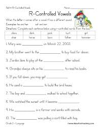 View the full list of topics for this grade and subject. Fabulous Er Ir Ur Phonics Worksheets Words Worksheet Free Egyptceersinfo With Vowel Grade R Jaimie Bleck