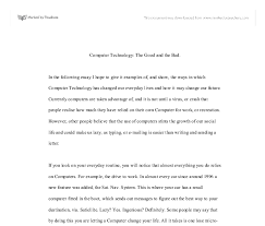 an essay on computer essay on computer and its advantages and disadvantages