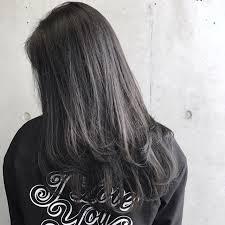 ブリーチなしでも可愛い黒に近い髪色暗めアッシュ大公開 Arine