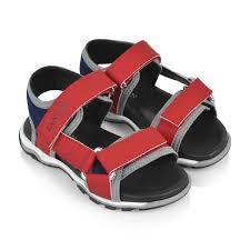 Boys Designer Sandals Lanvin Boys Red Navy Sandals Kids Designer Sandals