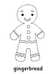 Gingerbread Man Coloring Pages For Christmas Christmas Coloring