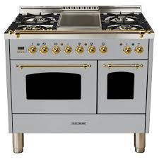 double oven gas range with griddle. Delighful Double Double Oven Dual Fuel Italian Range True With Gas Griddle T