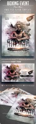 Boxing Event Free Flyer Psd Template