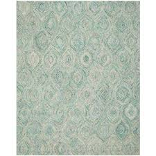 ikat ivory sea blue 8 ft x 10 ft area rug