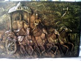 mahabharat krishna 3d wall mural