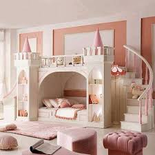 Pretty Girl Beds Pertaining To Cute Girls Bedroom With Princess Castle  Accents Double Staircase Prepare Dog Bunk Toddler Little Cat 4