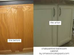 painting bathroom vanity before and after. chalkpainted bathroom vanity painting before and after