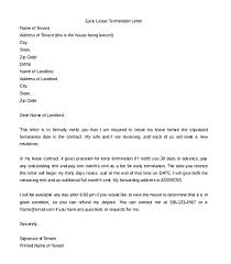 Rental Lease Letters Rental Lease Letter Details Termination From Landlord To Tenant