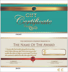 Free Gift Certificate Template Download Extraordinary Gift Certificate Template Free Vector Download 4848 Free Vector