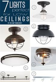 revamp homegoods diy problems 7 lighting options for low shallow ceilings