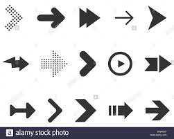 Web Design Arrows Black Arrows Set Isolated On White Background Collection