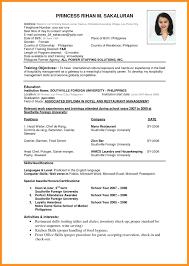 6 Curriculum Vitae Pdf Format Fillin Resume