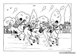 Small Picture Horse Racing Coloring Pages