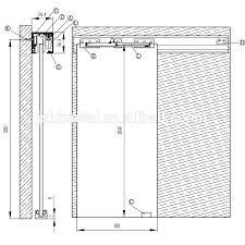 pocket door stops sliding glass door stopper top hung aluminum track sliding door system with soft pocket door stops