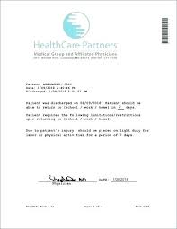 Kaiser Doctors Excuse Note Kaiser Doctors Note Template Word Lovely Permanente For Work