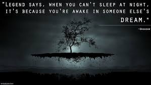 Sleeping Dreams Quotes Best of When You Can't Sleep At Night You're Awake In Somebody Else's