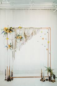ideas for copper pipes wedding ceremony arches
