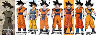 Dragon Ball Z Power Chart Updated Comparison Chart For The Character Designs Of Goku