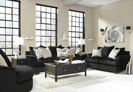 Living Room Sofa And Loveseat Sets Signature Design By Ashley Heflin 4720038 4720035 Black Fabric