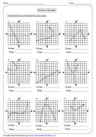 Function Chart Worksheet Graph Domain And Range Linear Function Worksheets Algebra 1