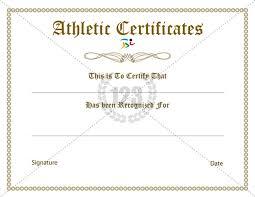Football Certificate Template Adorable Rare Athletic Certificate Template Free 48Certificate Templates