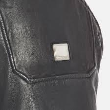 boss orange men s jofynn leather jacket black image 6