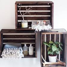 Make your own wood stained crate shelves for your bathroom or any room in  your house